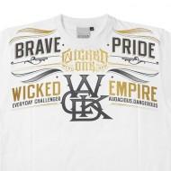 Tee shirt Wicked One Pride blanc en coton