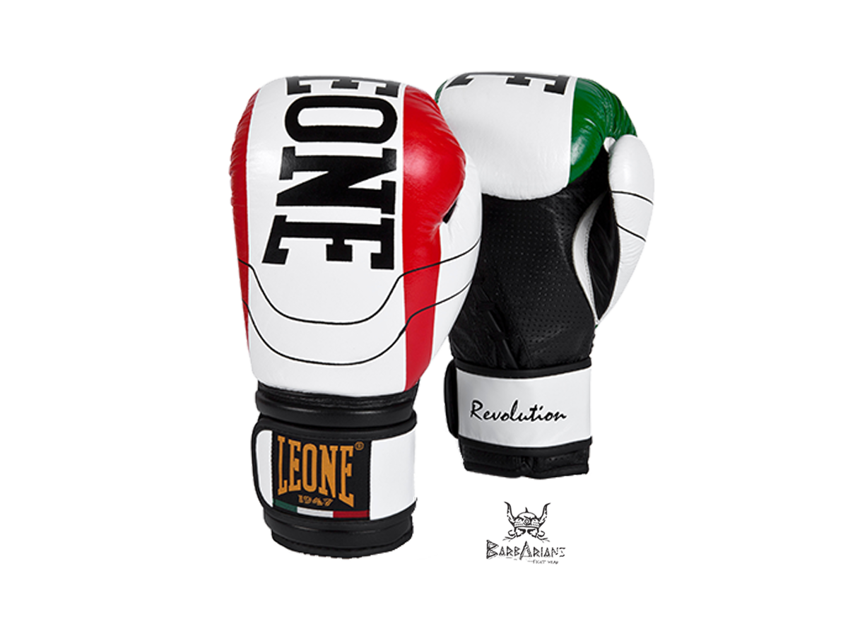 gants de boxe leone 1947 revolution blanc cuir barbarians fight wear. Black Bedroom Furniture Sets. Home Design Ideas