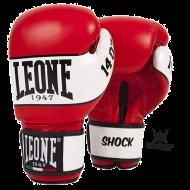 """Gants de boxe Leone 1947 """"Shock"""" rouge cuir"""