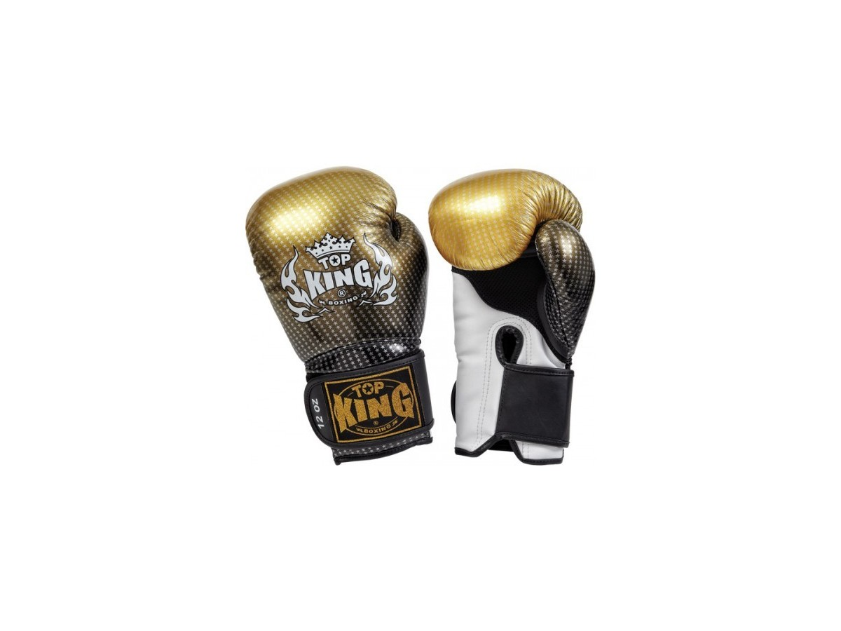 "Top King Boxing Gloves Gold SUPER STAR ""AIR"" - BARBARIANS FIGHT WEAR"