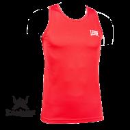 Tee Shirt de Boxe Anglaise Leone 1947 Rouge Polyester Respirant