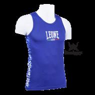 Tee Shirt Boxe Anglaise Leone 1947 Polyester Respirant Bleu
