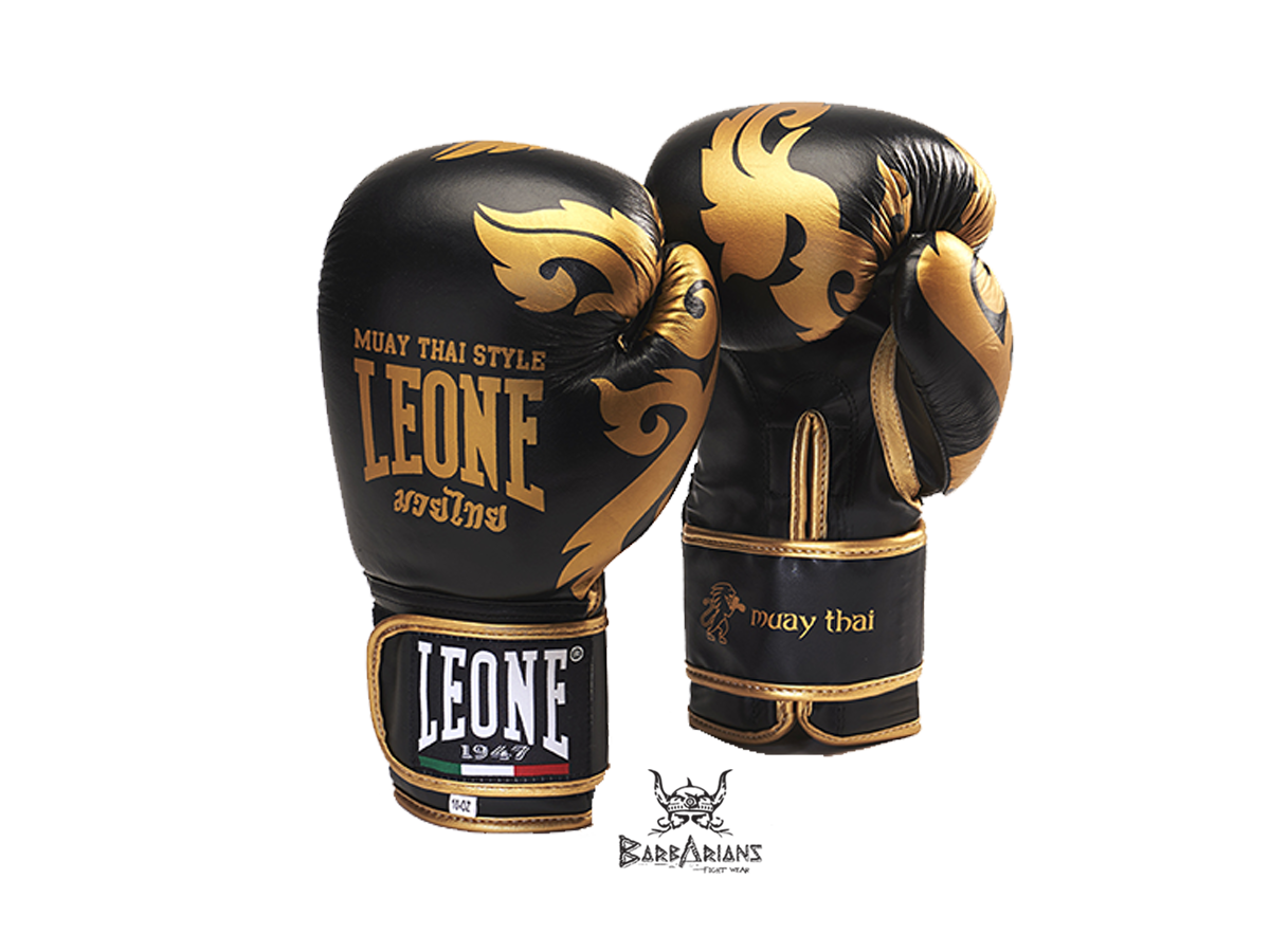 gants de boxe leone 1947 muay tha noir barbarians. Black Bedroom Furniture Sets. Home Design Ideas