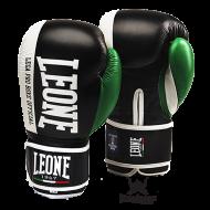 "Gants de boxe Leone 1947 "" Contender "" Noir et Vert"