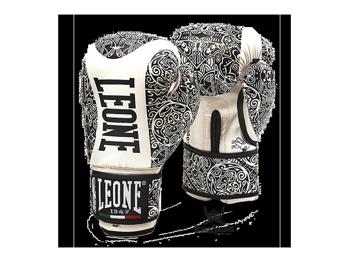 Gants de boxe leone 1947 maori blanc - Gant de boxe a lacet ...