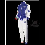 Survêtement de Boxe Leone 1947 bleu Italie polyester zip