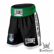 "Shorts de boxe Anglaise Leone 1947 ""Contender"" Noir"