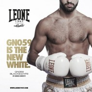 "Gant de boxe Leone 1947 ""Black and White"" blanc"