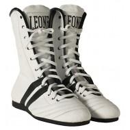 Chaussures de boxe anglaise Leone 1947 Blanche