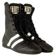 Chaussures de boxe anglaise cuir Leone 1947 noir