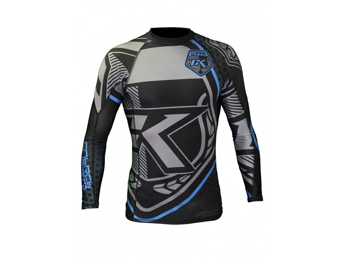 rashguard contract killer lange rmel schwarz und blau barbarians fight wear. Black Bedroom Furniture Sets. Home Design Ideas