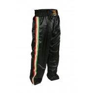 "Pantalon de Kick-boxing Leone 1947 ""Italy"" Noir Satin"