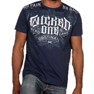 Tee-shirt Wicked One Punishement Bleu Coton