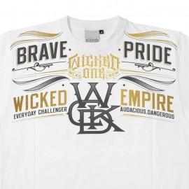 Wicked One Pride Tee Shirt  weiße Baumwolle