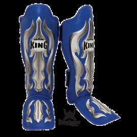 """King Schienbeinschützer """"Fantasy 1"""" blau Leder skintex"""