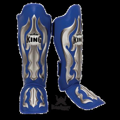 "Photo de Protège tibias King \\""Fantasy\\"" bleu pour protege tibia boxe SG-TK-FA02"