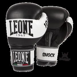 """Gant de boxe Leone 1947 """"Shock"""" noir cuir"""