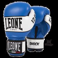 """Photo de Gant de boxe Leone 1947 \\""""Shock\\"""" bleu cuir pour Gant de Boxe GN047"""
