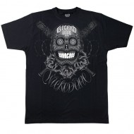 Wicked One Big Skull Tee Shirt Schwarz Baumwolle