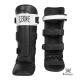 "Leone 1947 Shinguards \""Shock\\"" black and white leather images, photos, pictures on Shinguards PT111"