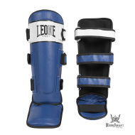 "Leone 1947 Shinguards \""Shock\\"" blue and white leather images, photos, pictures on Shinguards PT111"