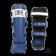 "Photo de Protège tibias leone 1947 \\""Shock\\"" bleu pour protege tibia boxe PT111"