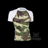 "Photo de Rashguard Leone 1947 \\""MMA\\"" camouflage vert pour Rashguard AB780"