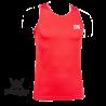 Photo de Tee Shirt de Boxe Anglaise Leone 1947 Rouge Polyester Respirant pour Tee-Shirt Boxe Anglaise AB724