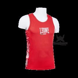 Leone 1947 Boxerhemd Polyester atmungsaktiv Rot