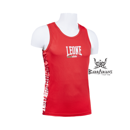 Leone 1947 Boxing Tee-Shirt Polyester breathable Red images, photos, pictures on Tee-Shirt Boxe Anglaise AB726