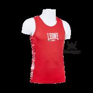 Photo de Tee Shirt Boxe Anglaise Leone 1947 Polyester Respirant Rouge pour Tee-Shirt Boxe Anglaise AB726