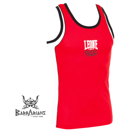 Leone 1947 Boxing Tee-Shirt Polyester breathable Red images, photos, pictures on Tee-Shirt Boxe Anglaise AB725