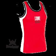Photo de Tee Shirt Boxe Anglaise Leone 1947 Polyester Respirant Rouge pour Tee-Shirt Boxe Anglaise AB725