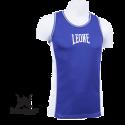 Leone 1947 Boxerhemd blau Polyester atmungsaktiv