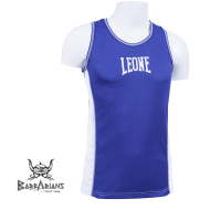 Boxing Tee-Shirt Leone 1947 blue Polyester breathable images, photos, pictures on Tee-Shirt Boxe Anglaise AB723