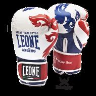 """Photo de Gant de boxe Leone 1947 \\""""Muay Thaï\\"""" Blanc pour Gant de Boxe GN031"""