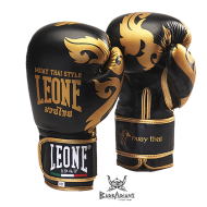 """Leone 1947 Boxing gloves \\""""Muay Thaï\\"""" Black images, photos, pictures on Boxing Gloves GN031"""
