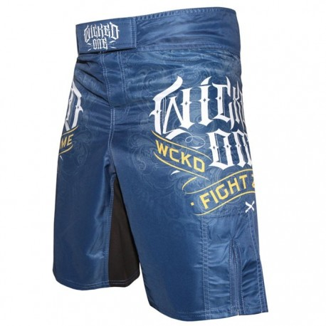 "Wicked-One MMA Shorts \""Fight zone\\"" Blue images, photos, pictures on Old Collection MS-WO-FZ01"