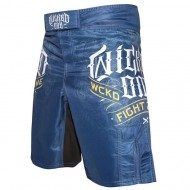 "Photo de Short MMA Wicked One \""Fight Zone\\"" bleu pour Short MMA MS-WO-FZ01"