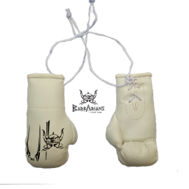 "Key ring Barbarians Fight Wear ""boxing gloves"" white"