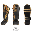 "Leone 1947 Shinguards ""Muay Thaï"" Black"