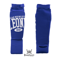 Leone 1947 shinguards cotton blue