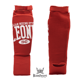 Leone 1947 shinguards cotton red