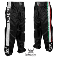 "Photo de Pantalon Full contact & pantalon kick boxing Leone 1947 \""Italy\\"" Noir Satin pour Pantalon Full Contact 