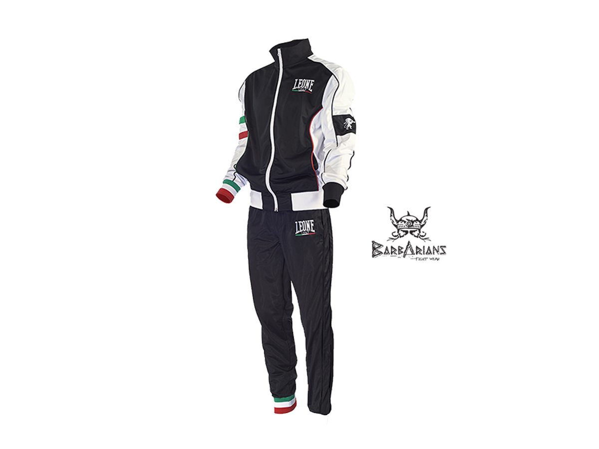 01 Leone ab796/schwarz Trainingsanzug
