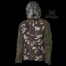 Leone 1947 K-way jacket green camouflage