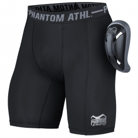 "Phantom Athletics Compression Shorts ""Vector"" with Cup Black"