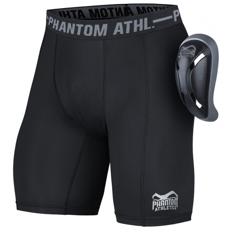"Phantom Athletics Compression Shorts \""Vector\\"" with Cup Black images, photos, pictures on Groin Guards & Compression Trunk..."