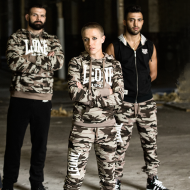 Photo de Sweat à capuche femme Leone 1947 camouflage pour Sweat-shirt & Hoodies de boxe LW861