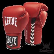 """Photo de Gant de Boxe cuir Leone 1947 \\""""Supreme\\"""" rouge pour Gant de Boxe GN021"""